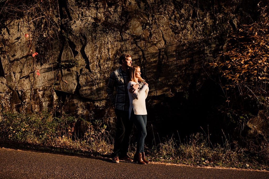 Steff & Jeff's Engagements session at Interstate State Park with Harsh Light