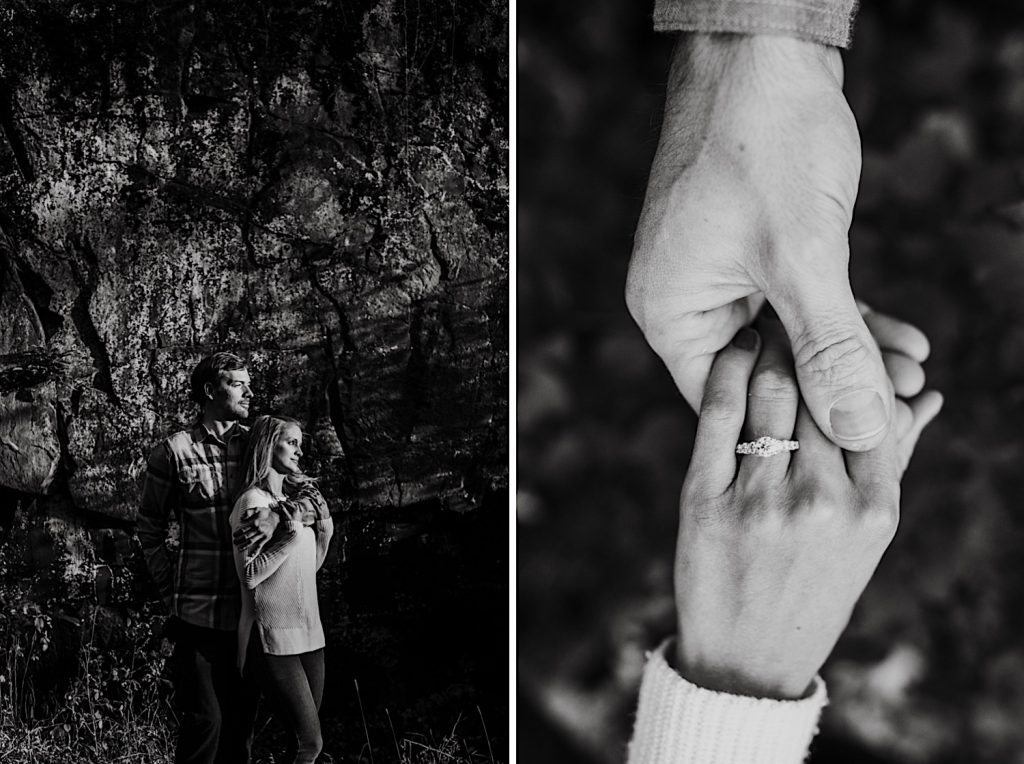 Steff & Jeff's Engagements session at Interstate State Park on the Wisconsin - Details Shot