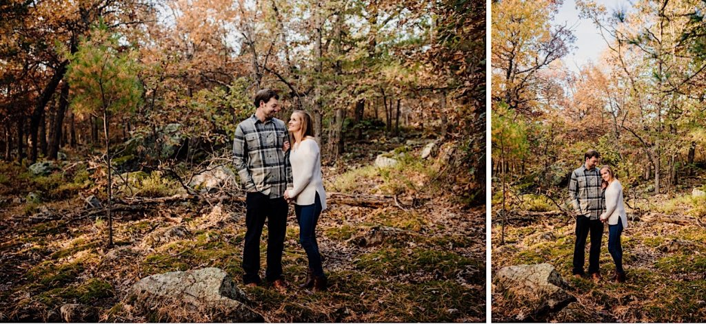 Adventurous & Fun Engagements session at Interstate State Park, Wisconsin