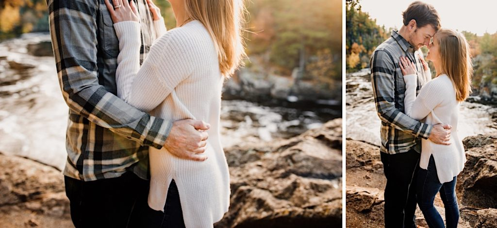 Adventurous & Fun Engagements session at Interstate State Park, Wisconsin // Pull her in closer