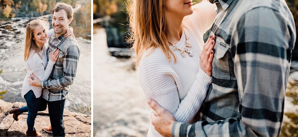Adventurous & Fun Engagements session at Interstate State Park, Wisconsin // Romantic Portraits